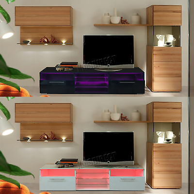 Westwood Modern LED TV Unit Stand Cabinet – High Gloss Doors Matte Cabinet TVC11