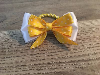Elastic hairband Ponytail Holder Yellow Bow