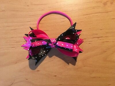 Haarelastiek / Elastic hairband Ponytail Holder Spike Bow