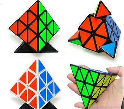 Smooth Triangle Magic Cube Twist Pyramid Pyraminx Puzzle Child Kid Toys boy gift