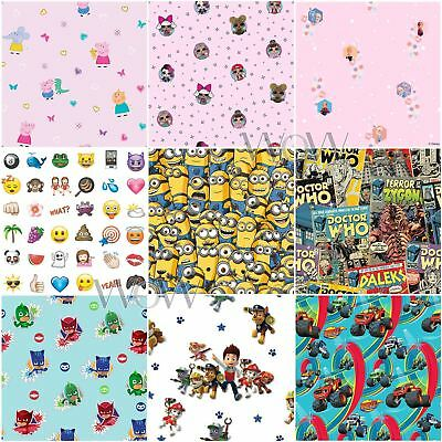 Character Wallpaper - Kids Bedroom - Boys Girls Cartoon Pink Blue