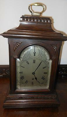 large oak cased westminster bracket clock by kienzle c1900s