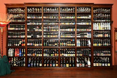 the Belgian Beer Library , the 200 best Belgian beers in a mahogany bookcase