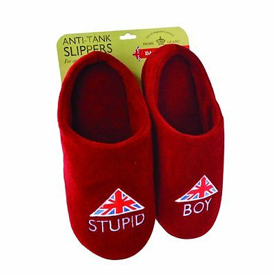 Dads Army Gifts - Stupid Boy Slippers (Medium) - New