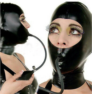 Platex Bondage Latex Rubber Hood with Gag Chlorination NEW RRP £190