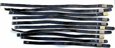 German Army Leather Trouser Belt **pick Your Own 1 - 10**