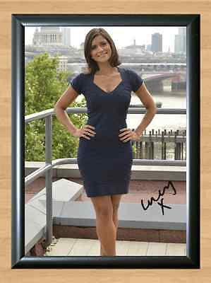 Lucy Verasamy ITV Weather Reporter Sexy Signed Autographed A4 Print Photo Poster