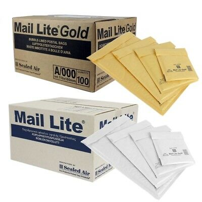 Mail Lite / Lites Padded Bags Bubble Envelopes All Sizes 24Hr Courier Gold White