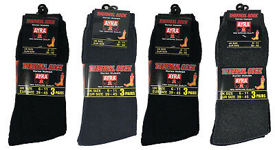 6 or 12 Pairs Mens Ultimate Thermal Socks Thick Warm Work Boot Socks Size 6-11