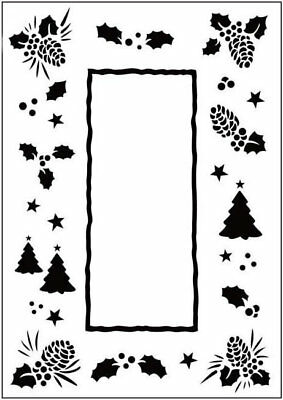 Crafts Too A6 Embossing Folder CHRISTMAS TREES FRAME