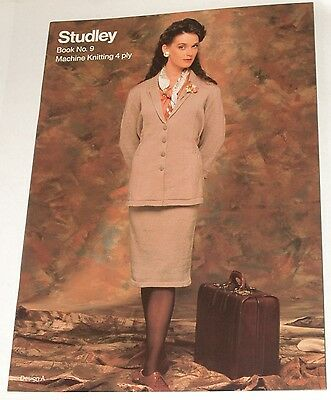 Studley Book 9 for Machine Knitting in 4ply - machine knitting book M771
