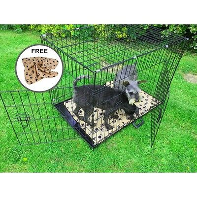 """AVC (Extra Large) 42"""" Metal Pet Dog Cat Transport Training Cage inc FREE Bed"""
