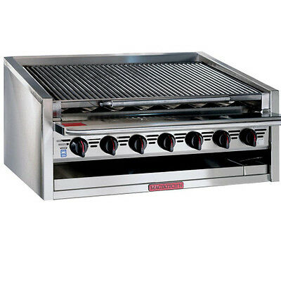 "Magikitchn APM-RMB-636 36"" Gas Countertop Charbroiler w/ Stainless Steel Radiant"
