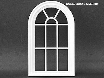 24th Scale  White Victorian 10 Pane Curved Window, Dolls House Miniatures, DIY