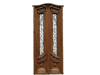 Art Nuveau Tall Double Front Door #A1770