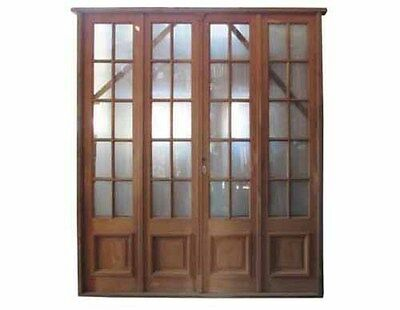 Antique Quad Patio Door Clear Glass Installed #D1205