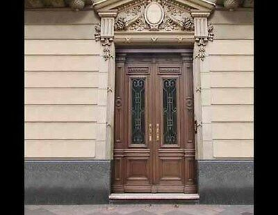 Italian Double Entry Door Hand Carved #A1870