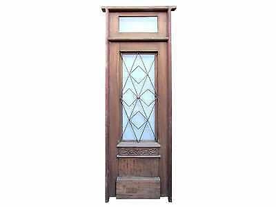 Single Front Door Wrought Iron Inserts & Transom #A1992