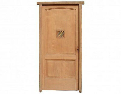 Solid Single Front Door with Stained Glass Lite #C1220