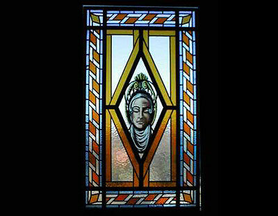 Stained & Painted Glass Skylight #4119