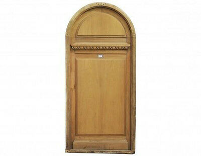 Antique Arched Solid Single Front Door with Peephole #D1051