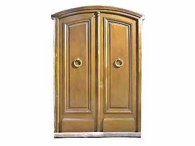 Antique Arched Double Solid Entry Door #D1211