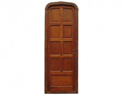 Antique Arched 9 Panel Single Door #A1749