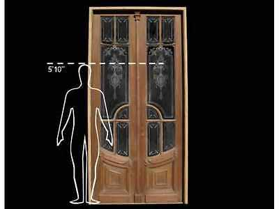 French Door with Etched Glass #B1083