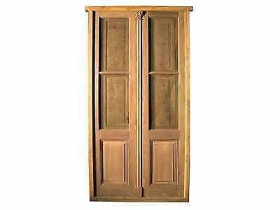 Antique Double French Door with Mosquito Net #B1287