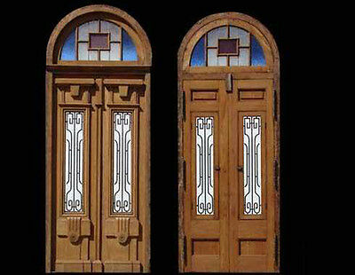Amazing Antique Double Entry Door Art Deco Style #A1716