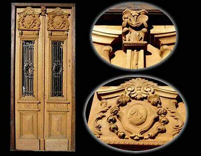 Double Entry Door With Hand Made Carvings #1676