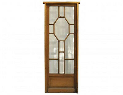 Antique Single French Patio Door W/ Beveled Glass #1890