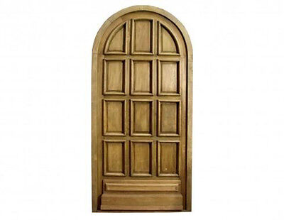 Round Top Pre-hung Solid Paneled Single Entry Door #D1180