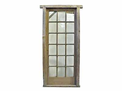 Antique Single French Door w/ Clear Glass #C1551