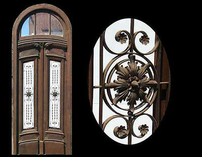 Incredible Tall Italian Door, Round Top Transom #1648
