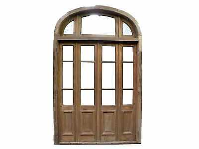 Antique Quad Patio Door w/ Arched Transom #A1802