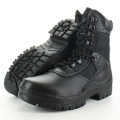 Highlander Boys Task Force 1 Leather Military Combat Boot
