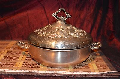 "Antique / Vintage Towle Silver-Plated Covered Serving Dish  12 1/2""x7 1/2"""