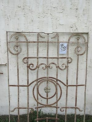 Antique Victorian Iron Gate Window Panel Fence Architectural Salvage Door #89