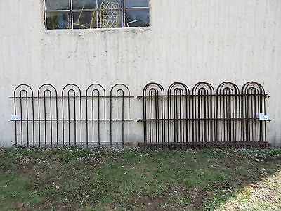 26 foot Antique Hair Pin Iron Fence Fencing Architechural Salvage 4 Sections  A