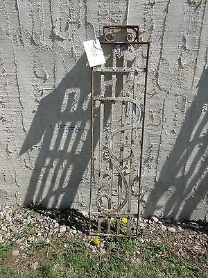 Antique Victorian Iron Gate Window Panel Fence Architectural Salvage Door #400