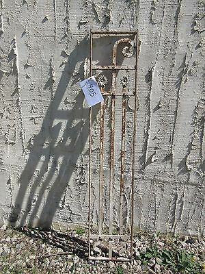 Antique Victorian Iron Gate Window Garden Fence Architectural Salvage Door #405