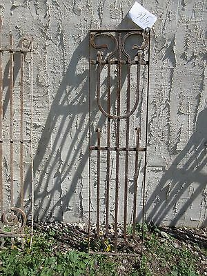 Antique Victorian Iron Gate Window Garden Fence Architectural Salvage Door #396