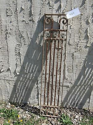 Antique Victorian Iron Gate Window Garden Fence Architectural Salvage Door #404