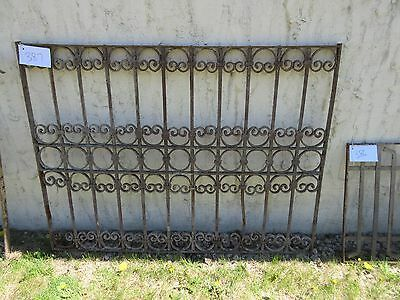 Antique Victorian Iron Gate Window Garden Fence Architectural Salvage Door #387