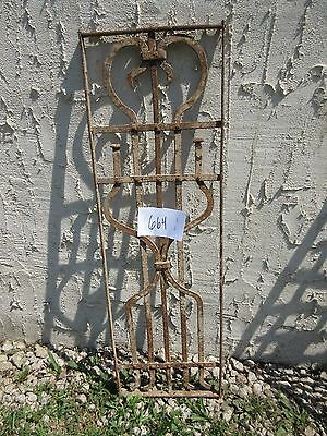 Antique Victorian Iron Gate Window Garden Fence Architectural Salvage Door #664