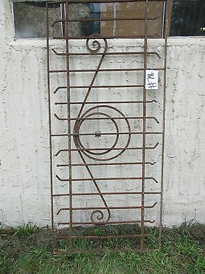 Antique Victorian Iron Gate Window Garden Fence Architectural Salvage Door #78