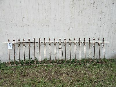 Antique Victorian Iron Gate Window Garden Fence Architectural Salvage Door #93