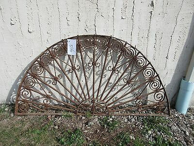 Antique Victorian Iron Gate Window Garden Fence Architectural Salvage Door #358