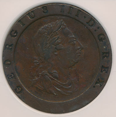 MAKE AN OFFER! -- Great Britain Twopence 1797SOHO George III - NGC XF 45 BN